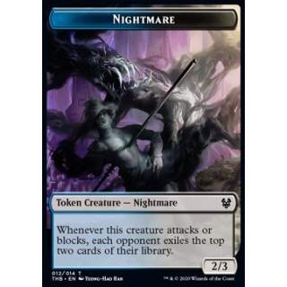 Nightmare Token (UB 2/3) // Satyr Token (R 1/1) - PROMO FOIL