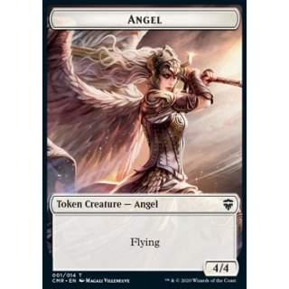 Angel Token (W 4/4) // Elf Warrior Token (G 1/1) - FOIL