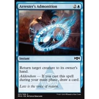Arrester's Admonition - FOIL