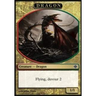 Dragon Token (Red and Green 1/1)