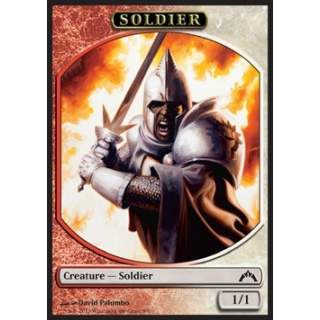 Soldier Token (Red and White 1/1)
