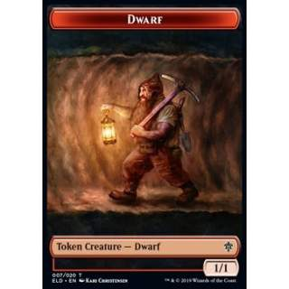 Dwarf Token (R 1/1) // Food Token (Version 4) - PROMO FOIL