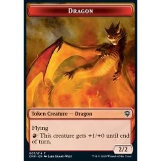Dragon Token (R 2/2) // Golem Token (A 3/3) - FOIL
