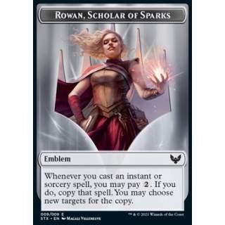 Rowan, Scholar of Sparks Emblem // Fractal Token (GU 0/0) - FOIL