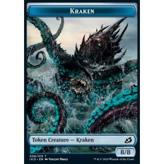 Kraken Token (U 8/8) // Human Soldier Token (W 1/1) (V.3) - FOIL