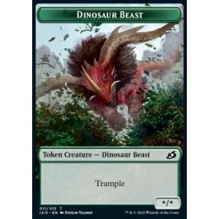 Dinosaur Beast Token (G */*) // Human Soldier Token (W 1/1) (V.2) - FOIL
