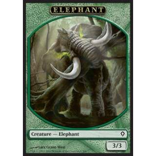 Elephant Token (Green 3/3)