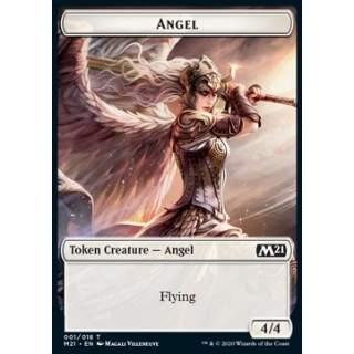 Angel Token (W 4/4) // Cat Token (G 2/2) - FOIL