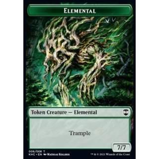 Elemental Token (G 7/7) // Elf Warrior Token (G 1/1)
