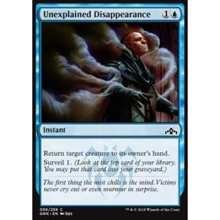 Unexplained Disappearance