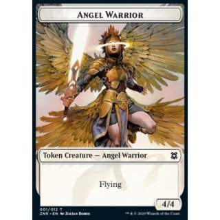 Angel Warrior Token (W 4/4) // Goblin Construct Token (A 0/1) - FOIL