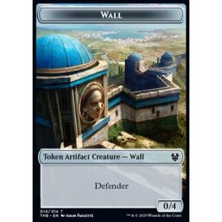 Wall Token (A 0/4) // Human Soldier Token (W 1/1) - PROMO FOIL