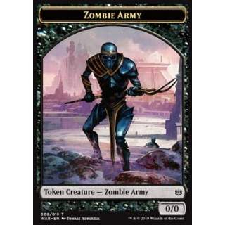 Zombie Army Token (Black 0/0) (Version 1)