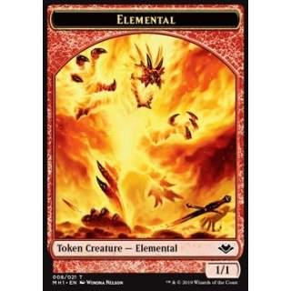 Elemental Token (R 1/1) // Spider Token (G 1/2)