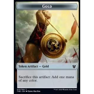 Gold Token // Human Soldier Token (W 1/1) - PROMO FOIL