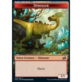 Dinosaur Token (R 1/1) // Human Soldier Token (W 1/1) (V.1) - FOIL