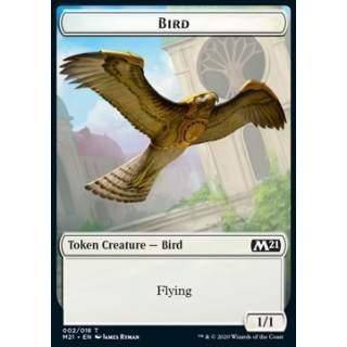 Bird Token (W 1/1) // Demon Token (B 5/5) - FOIL