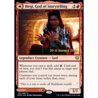 Birgi, God of Storytelling // Harnfel, Horn of Bounty - PROMO FOIL