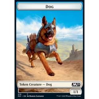 Dog Token (W 1/1) // Saproling Token (G 1/1) - FOIL
