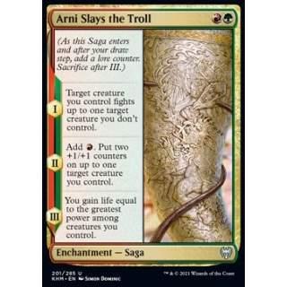 Arni Slays the Troll - FOIL