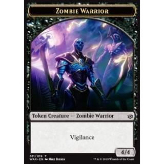 Zombie Warrior Token (Black 4/4)