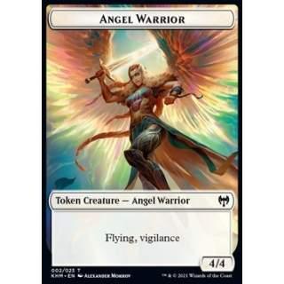 Angel Warrior Token (W 4/4 Vigilance) // Dwarf Berserker Token (R 2/1) - FOIL