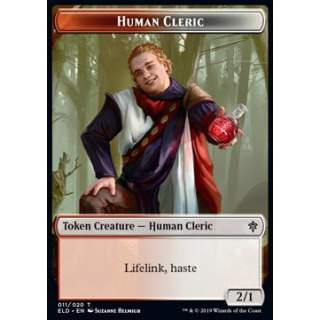 Human Cleric Token (Red and White 2/1) - PROMO