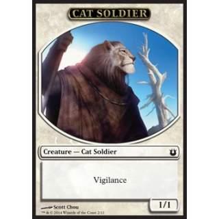 Cat Soldier Token (White 1/1)