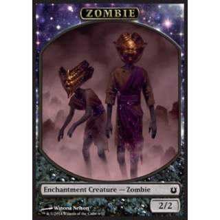Zombie Token (Black 2/2 Enchantment)