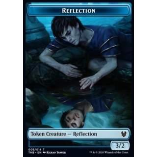 Reflection Token (U 3/2) // Human Soldier Token (W 1/1) - PROMO FOIL