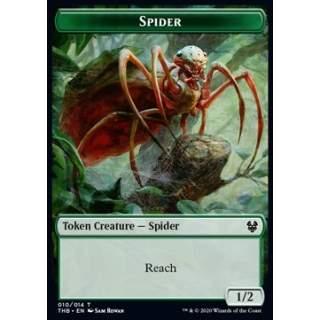 Spider Token (G 1/2) // Human Soldier Token (W 1/1) - PROMO FOIL